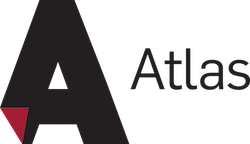 Atlas Service Center Logo Black with Red