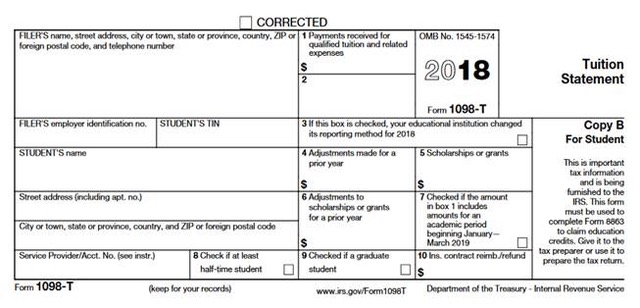 IRS 1098 t form for 2018