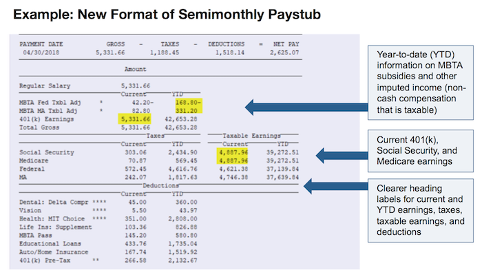Semimonthly Paystub